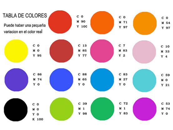 tabla de color logo