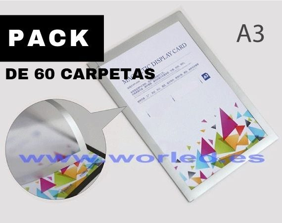 PACK DE 60 CARPETAS magneticas a3